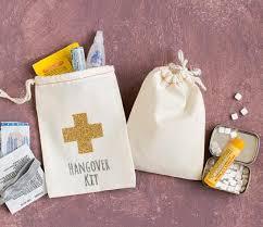 bridal shower gift bags custom cotton bachelorette hangover kit wedding favor gift