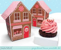 make a paper gingerbread house cupcake box holds treats candy