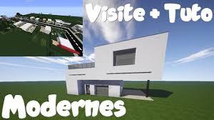 Maison Modern Minecraft by Minecraft Visite Ville Moderne Tuto Maison Moderne Youtube