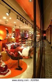 Tottenham Court Road Interior Shops Heals Department Store Tottenham Court Road London Stock Photo