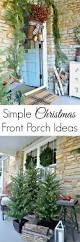 porch simple christmas front porch ideas