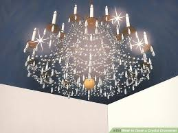 Teardrop Crystals Chandelier Parts 3 Ways To Clean A Crystal Chandelier Wikihow