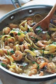 cuisine recette rapide pâtes aux crevettes et chignons recette rapide cuisine culinaire
