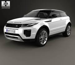 land rover evoque white land rover range rover evoque 3 door 2015 3d model hum3d