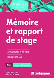 rapport de stage cuisine librairie studyrama mémoire et rapport de stage méthodologie