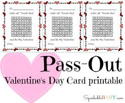 pass out valentine u0027s day card printable the squishable baby