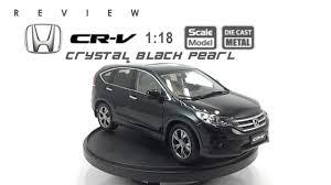 diecast honda crv โมเดลรถ honda cr v black pearl ขนาด scale 1 18