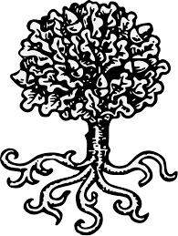 oak tree traceable heraldic art