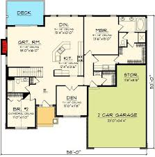 open concept house plans plan 89845ah open concept ranch home craftsman house plans floor