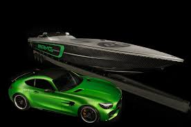 lexus v8 in boat mercedes amg cigarette racing celebrate 10 year tie up with new