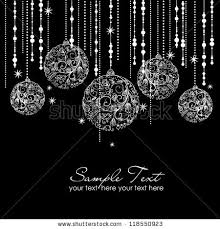 black white ornaments card template stock vector