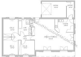plan maison 3 chambres plain pied garage plan maison 90m2 avec garage