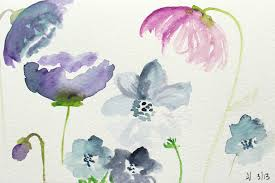 Watercolor Flowers - how to create watercolor flowers tutorial plus a gorgeous giveaway