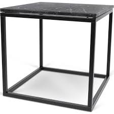 Marble Top Sofa Table by Temahome Prairie 20x20 Marble End Table Black Marble Top Black