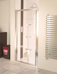 bi fold shower door hinges aqua 6 bi fold shower door 760mm polished silver