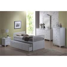 Captain Bed With Trundle Sophie Captain Single Bed W Trundle Chocolate Single Bed Dixie