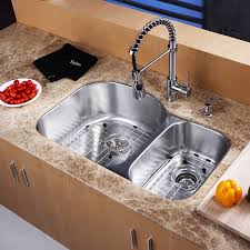 kitchen sink and faucets kraus kbu23 kpf1612 ksd30 31inch undermount kitchen sink w faucet