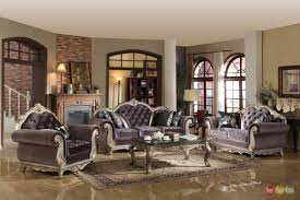 Grey Living Room Sets by Articles With Tufted Leather Living Room Furniture Tag Tufted