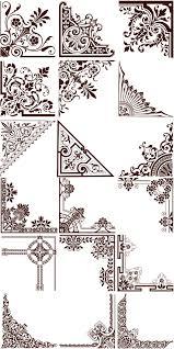 ornament corners vector drawings ornaments
