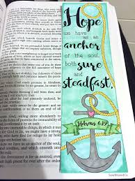 Love Anchors The Soul Print - bible journaling bible verse art bible verse print great for
