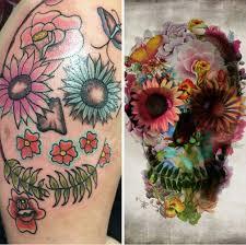 flower skull expectationvsreality