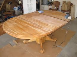 Refinishing Oak Table - Sanding kitchen table