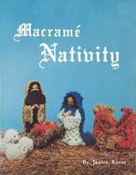 macramé nativity u2022 1970s macrame christmas xmas u2022 jesus mary