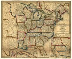 United States Map Wall Art by Old Railroad Usa Map Prints