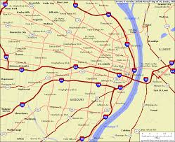 map st louis map of st louis missouri vacations travel map