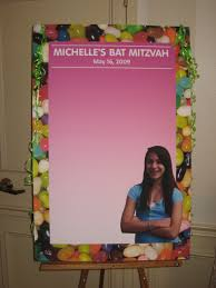 bat mitzvah sign in boards custom sign in board for candy theme bat mitzvah by total party