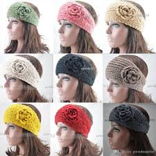 winter headbands 2017 hot women s knitted flower headband crochet handmade ear