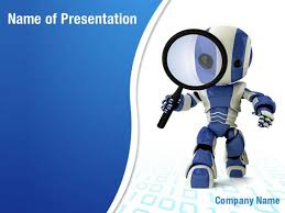 free powerpoint template robot animated robot powerpoint template