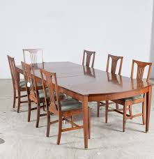 inlaid walnut veneer arts and crafts style dining set flint u0027s fine