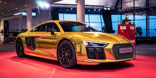 sports cars gold audi r8 v10 photos business insider