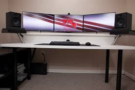 Computer Set Ups by Brilliant Computer Desk Setup With Cool Gaming Room Ideas Best