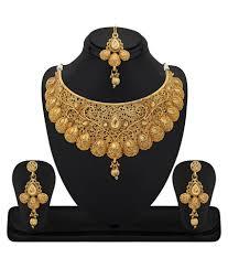 Buy Designer Gold Plated Golden Fashion Necklaces Upto 90 Off Buy Necklace U0026 Designer Necklaces