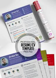 Free Infographic Resume Templates Psd Resume Template Photographer Resume Template Photoshop Psd