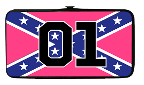 Confederate Flag Clip Art Hinge Wallet Pink Confederate Flag 01 Cooters