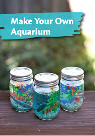 make this adorable mason jar aquarium with your kids this small