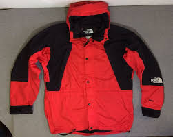North Face Light Jacket 90s Vtg The North Face Mountain Light Gore Tex Shell Red Black