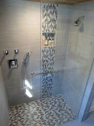 Bathroom Tile Shower Ideas Glass Shower Stall Design With White Ceramic Tiled Backsplash