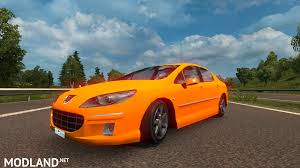 peugeot yellow iranian style peugeot 407 mod for ets 2