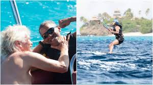Obama Necker Island Obama Beats Richard Branson In Kitesurfing Contest Watch