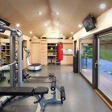 Home Storage Ideas by Gym Equipment Storage Ideas Home Gym Industrial With Concrete Wall