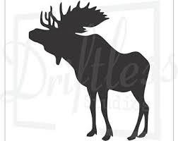 moose template woods etsy
