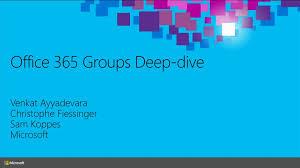 microsoft office 365 groups dive microsoft ignite 2015