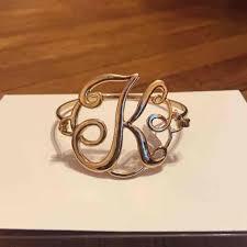 monogram initial bracelet monogram k initial bracelet os from kendall s closet on poshmark