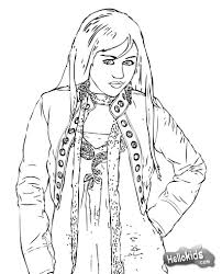 miley cyrus hannah montana coloring page more famous people