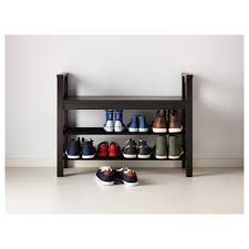 hemnes bench with shoe storage black brown ikea