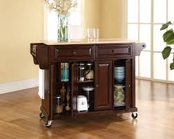 rolling kitchen island ideas kitchen kitchen carts and islands ideas using walnut rolling